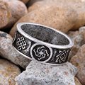 1pc Slavic Rings Kolovrat Alatyr Many Amulet Signs Rune Signet Jewelry Viking Talisman Ring Men Anel