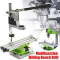 Mini Präzision Multifunktions Arbeitstisch Schraubstock Leuchte Bohrer Fräsen Maschine X Und Y-achse DIY Einstellung Koordinieren Tisch