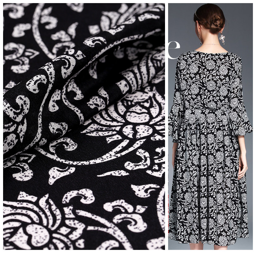 Silk crepe de chine fabric summer custom fabric printing 100 silk fabric digital inkjet silk fabric