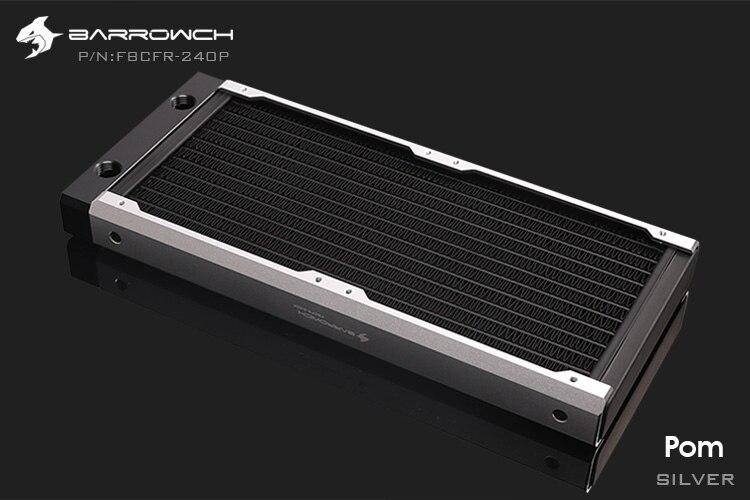 Barrowch FBCFR-240, хамелеон рыбы модульные 240 мм радиаторы, акрил/Пом съемные радиаторы, подходит для 120 мм вентиляторов
