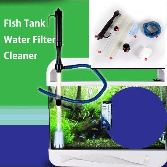 Aquarium Battery Syphon Operated Fish Tank Vacuum Gravel Water