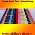 5 м в РУЛОНЕ 38 мм ширина стиль ремень безопасности лямки автомобильные Ремни безопасности Гонки Ремней Безопасность дизайн веб-бесплатная доставка