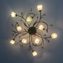 American style living room iron art ceiling lamp