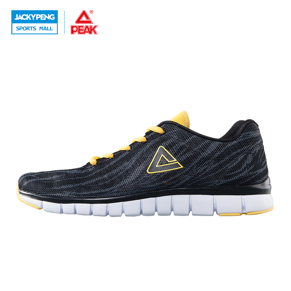 PEAK SPORT New Ultra-Light Men Simple Sport Breathable Mesh Sport shoes Outdoor Sports Slip On Shoes Walking Shoe peak sport men outdoor bas basketball shoes medium cut breathable comfortable revolve tech sneakers athletic training boots