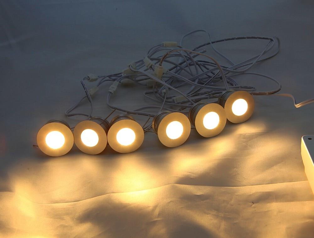 Bezmaksas piegāde 6gab / lot dimmable 4w mini noveda gaismu lāzera lampas skapja lampa ar griestu padziļinājumu