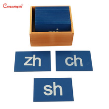 Montessori Teaching Aids Toys Chinese Sandpaper Letter Exercise Box Montessori Student Learning Educational Toy Wood 1000pcs box three dimensional block mathematics teaching aids montessori learning material toys puzzle science educational toy