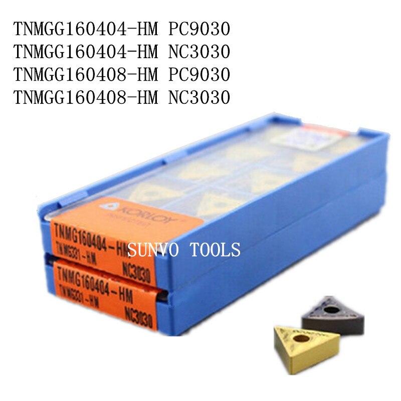 50PCS TNMG160408 TNMG160404-HM PC9030 NC3030 KORLOY CNC carbide milling inserts indexable end milling cutter MTJNR2020K16 MTJNR
