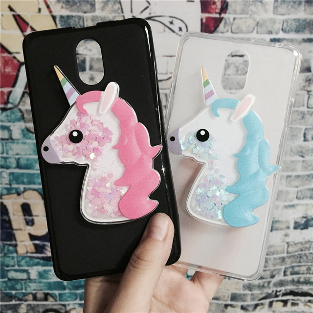 wholesale dealer 370de f42ee US $1.63 18% OFF|3D Unicorn Quicksand Liquid Soft Silicone Case for Lenovo  Vibe P1M P1ma40 Phone Cover Cartoon Diamond Funda Coque Fashion Owl-in ...