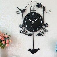 Large Creative 3d Glass Wall Clock Modern Design Silent Big Fluorescent Cuckoo Clock Metal Saat Zegar Wall Clocks Luxury 50C332