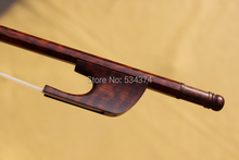 цена на Professional Baroque style Cello bow  with  Siberia white horse tail and  snakewood material ,size 4/4