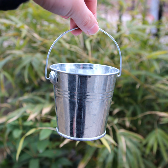 jardn maceta y jardineras cm zinc macetas metal mini galvanizado cubo para flor maceta decorativa