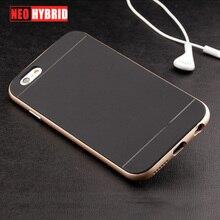 Роскошные Золотые Силиконовый Пластик 2 в 1 Броня Case для fundas iphone 6 6 s Плюс 360 всего тела телефон обложка Case Накидки Аксессуары