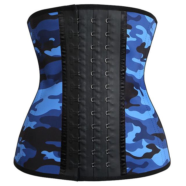 Camuflaje de Látex Cintura Trainer Corsé Más El Tamaño de Acero del Hueso Corsés Entrenamiento de La Cintura Cincher Mujeres Faja Faja MUKATU