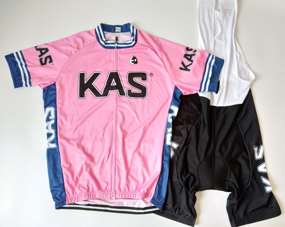 KAS Team Cycling Clothing Men 6 color Bike Ride jersey Set Breathable bicycle wear Yellow White Red Green Blue Pink 2016 new men s cycling jerseys top sleeve blue and white waves bicycle shirt white bike top breathable cycling top ilpaladin