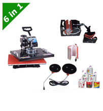 dhl free Multifunctional Sublimation Heat Press Machine 6 in 1