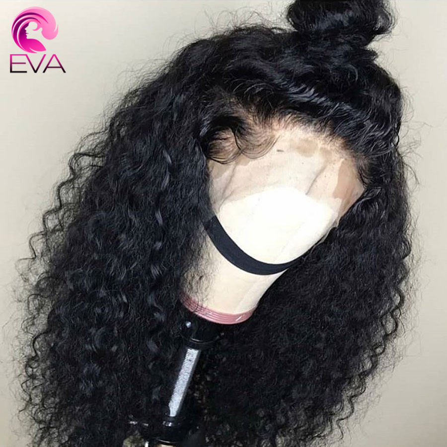 Eva Curly 360 Lace Frontal Wig Pre Plucked With Baby Hair Glueless Lace Front Human Hair