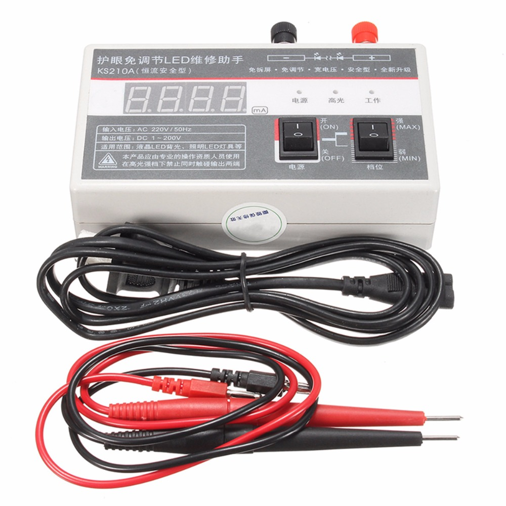 0-200 В цифровой светодиодный ЖК-дисплей ТВ Подсветка метр тестер инструмент лампа Бусины инструмент для ремонта