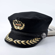 2016 spring Fashion Beret Women Octagonal Cap Black Wool Newsboy Cap for Women Men Lady Autumn Winter Hats an crown Flat Caps