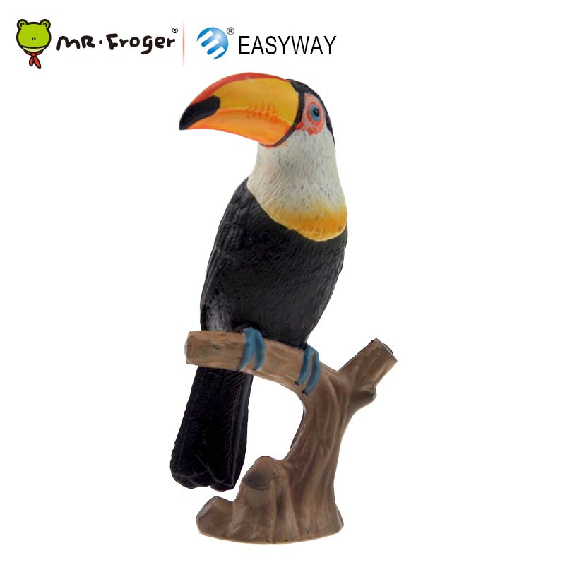 EASYWAY Toy Toy-Figure Decoration Bird-Model Toucan Plastic DIY Small Zoo-Animals Cute