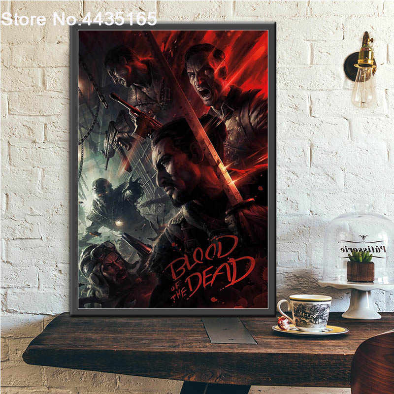 Posters and Prints Black Ops 4 Call Duty Game Poster Wall Art Picture Canvas Painting Decorative for Living Room Home Decor