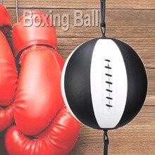 Боксерский скоростной мяч груша Professional Boxing Equipment Бодибилдинг Фитнес двойной pu кожаный конец ММА скоростные шары пробивая шары