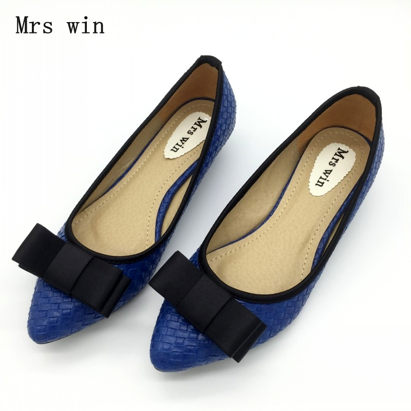 Sexy Pointed Toe Women's Low Heel Pumps Shoes Spring Autumn Bowtie Slip On Female Spike Heels Pumps Ladies Single Shoes Blue купить