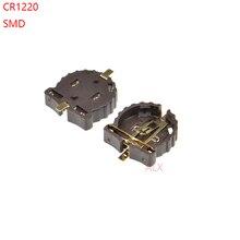 10 шт., чехол держатель для аккумулятора SMD SMT CR1220 CR1225, 3 в, с кнопками