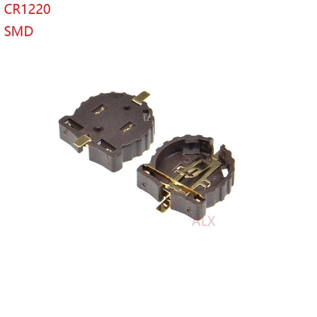 10 STUKS SMD SMT CR1220 CR1225 BS 1220 2 3 V KNOOPCEL BATTERIJ SOCKET HOLDER CASE BOX