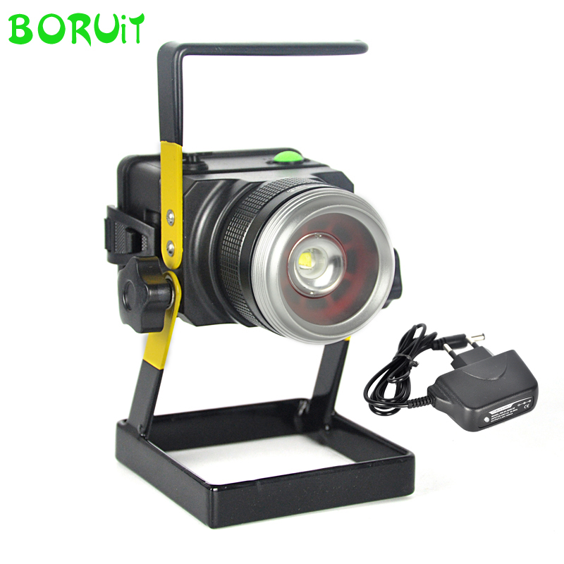LED Floodlight Outdoor Light Waterproof 10W Rechargeable Emergency Work Lamp Flood Light Spotlight Camping Portable Light 13w running time12hours ip65 white constand and red flash portable light emergency light led flood light camping light