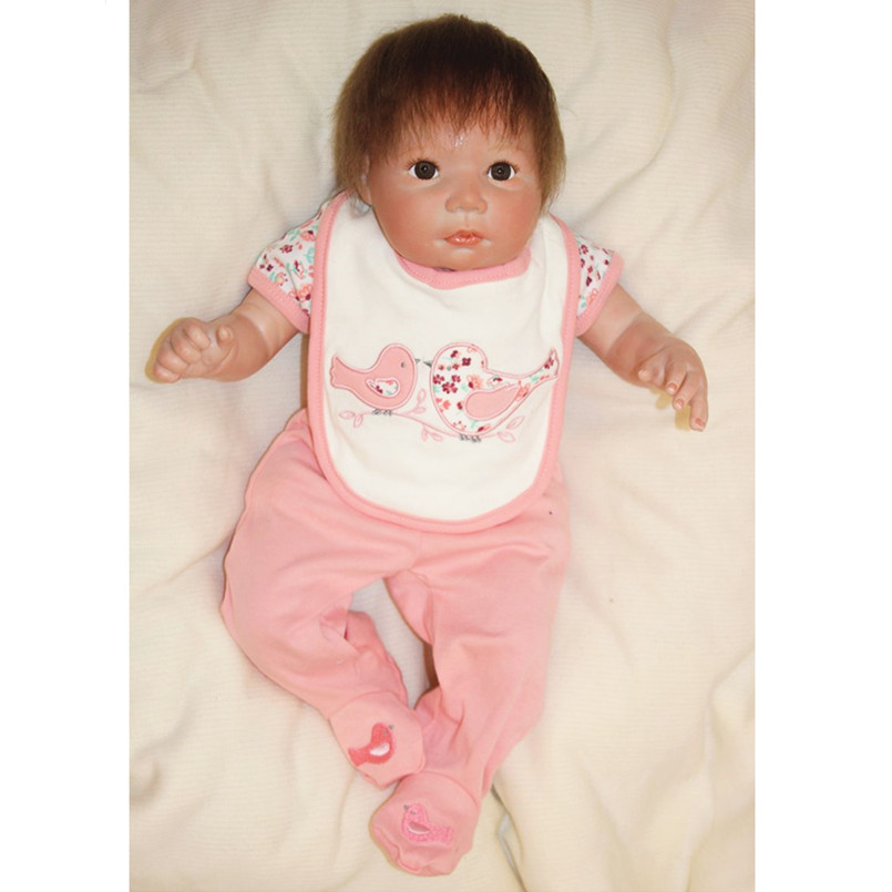 цена Soft Realistic Reborn Dolls Handmade Cloth Body Reborn Babies Bonecas Dolls for Girls,43 CM Lifelike Baby Alive Doll Baby Toys