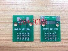 Бесплатная доставка FPC 10pin transfer доска FFC 2.54 DIP-TFT LCD панели 1 мм 0.5 мм шаг ПЕЧАТНОЙ ПЛАТЫ двойной стороны