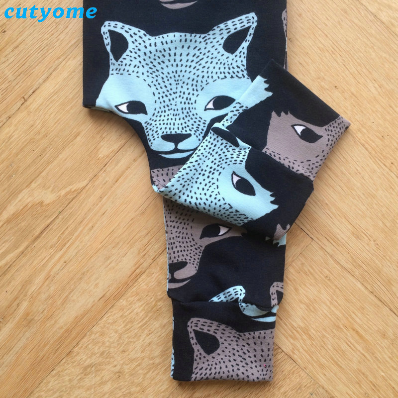 Cutyome Baby Kids Boys Harem Pants Wolf Printed Casual Cartoon Elastic Trousers Newborn Infant Boy Costume Bottoms Clothes 3-24M (10)