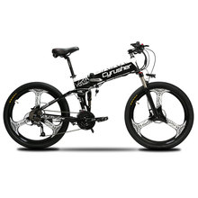 Cyrusher Updated XF770 Mountain Folding Electric Bike 250 Watt 48V Full Suspension Electric Bicycle 27 Speeds