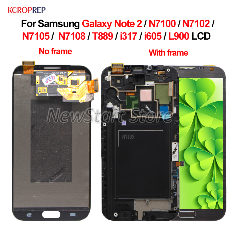 For Samsung Galaxy Note 2 LCD Display Touch Screen 5.5 For Samsung Note2 N7100 N7105 N7108 T889 N7102 I371 I605 L900 lcd image