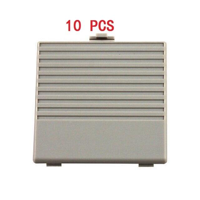 YGCDO 10 قطعة استبدال رمادي غطاء باب البطارية لنظام نينتندو الأصلي لعبة بوي