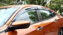 Для Honda Civic 10-го Поколения 4dr Sedan 2016 2017 Окно Козырек Vent Shade Дождь/Вс/Ветер Гвардии Обложка полный Комплект НОВЫЙ