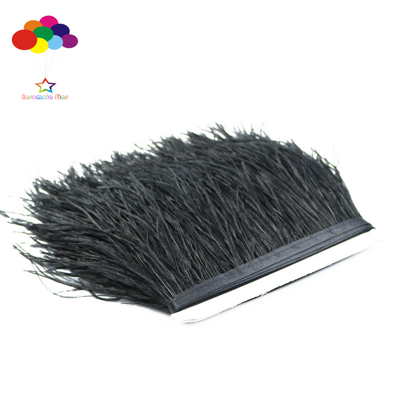 Diy Champagne 1//5//10 Meter Ostrich Feather Cloth Trims 3.15-6In//8-15 Cm Carnival