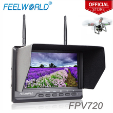 Feelworld FPV720 7 Inch FPV Monitor 1024x600 IPS Dual 5 8G 40CH Diversity Receiver LCD Monitor