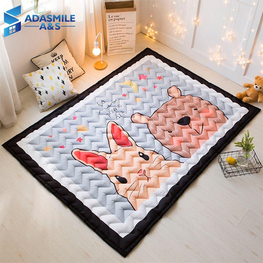 Tapis nordique pour chambre d'enfants tapis vague matelassé Tatami tapis zone tapis chambre dessin animé Animal ramper tapis de jeu tapis de salon