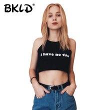 BKLD 2018 חדש קיץ סקסי נשים Camis קצוץ בגדי חזיית יבול למעלה יבול Feminino מצחיק מכתב אני יש לא ציצים סטרפלס יבול למעלה