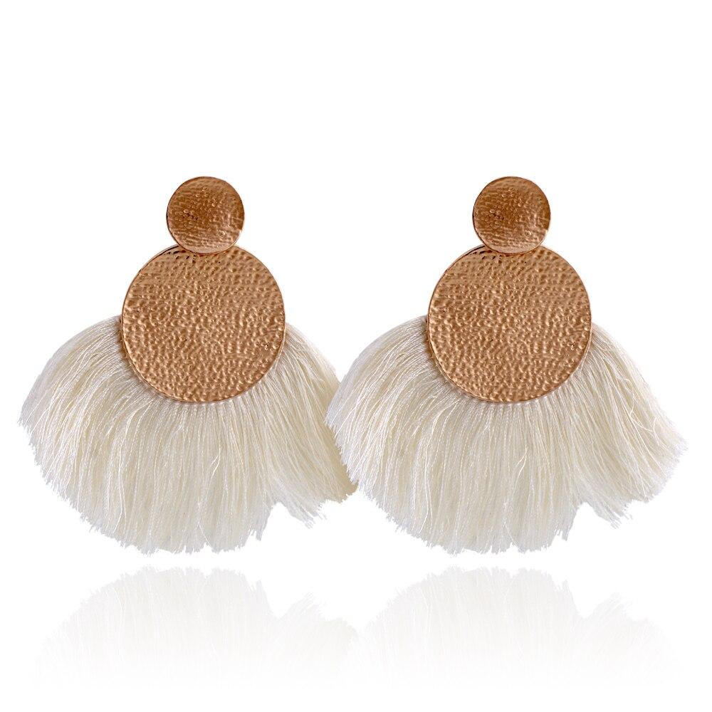 WNGMNGL 2018 New Fashion Vintage Ethnic Long Drop Dangle Earrings Party Colorful Tassle Earrings Jewelry for Women Accessories in Drop Earrings from Jewelry Accessories