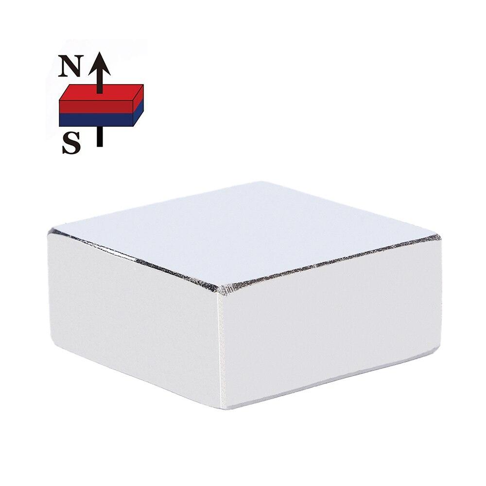 1 unid 36mm x 36mm x 15mm tierra rara NdFeB imán bloque 36*36*15 36x36x15 N52 imán de neodimio (36*36*16)