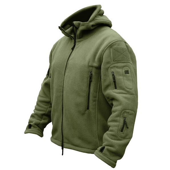 PAVEHAWK Military Man Fleece Tactical Softshell Jacket Polartec Thermal Polar Hooded