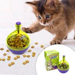 التفاعلية القط الذكاء علاج الكرة لعبة أكثر ذكاء الحيوانات الأليفة اللعب الغذاء الكرة موزع الغذاء للقطط اللعب التدريب