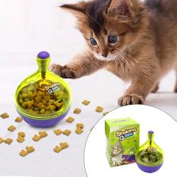 Chat interactif IQ traiter balle jouet plus intelligent jouets pour animaux de compagnie nourriture balle distributeur de nourriture pour les chats jouant à la formation
