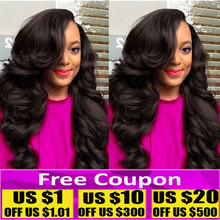 7A Grade ms lula hair 4PCS unprocessed peruvian virgin hair body wave 100g1B virgin hair bundle deals human hair weave extension
