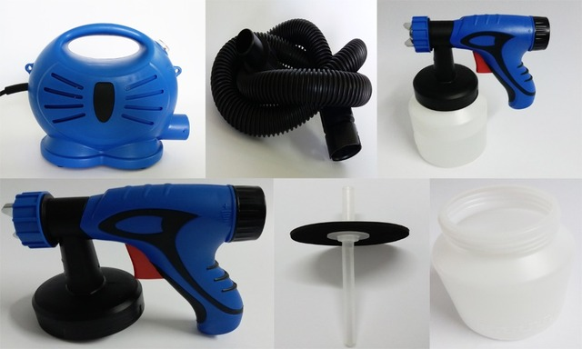 650W Electric Spray Gun With paint Sprayer for spraying paint Hvlp Auto Furniture Steel Coating Paint Pistol 3