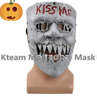 Hot Sale Movie The Purge 3 Masks Kiss Me Mask Cosplay Halloween Horror Mask Election Year Mask Halloween Party Props Full Face
