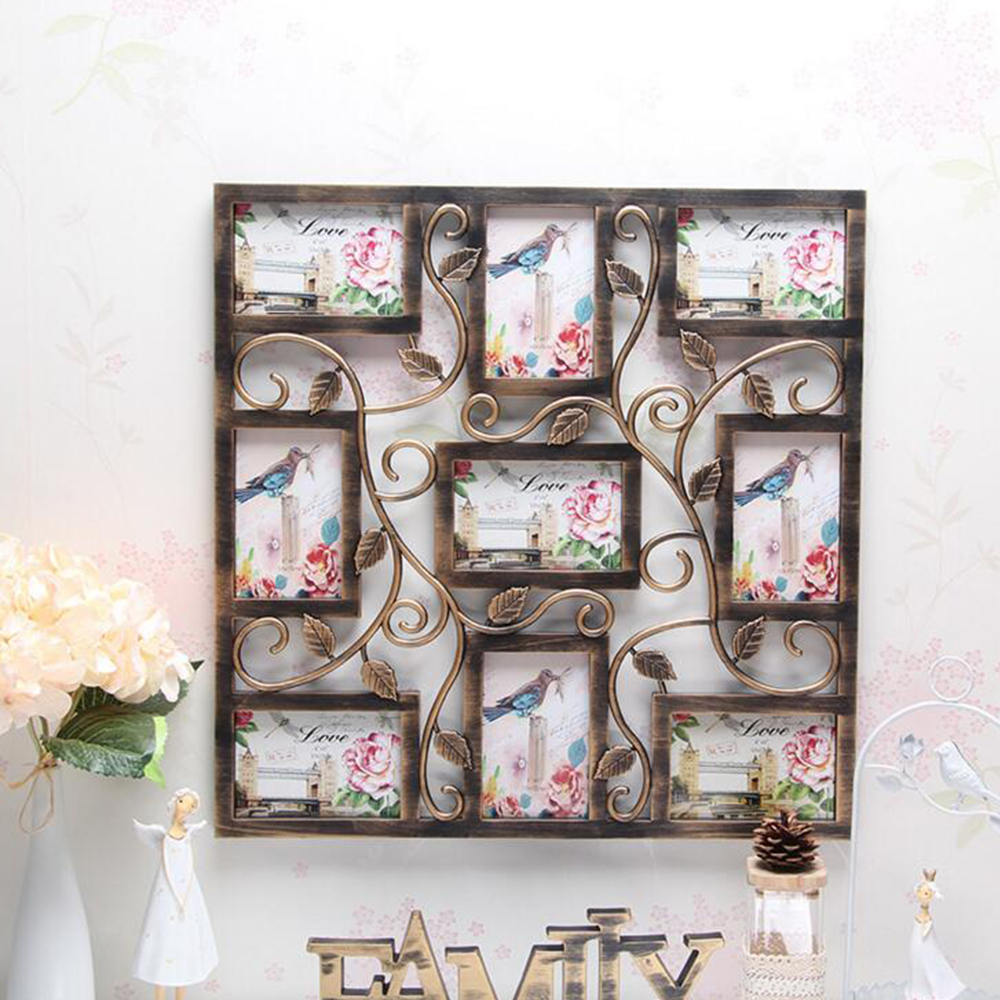Aliexpress.com : Buy yazi Bronze Color Wall Hanging Collage Square ...