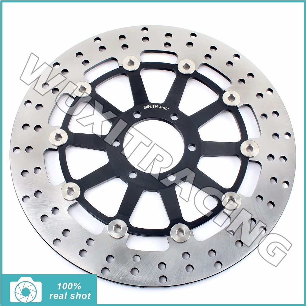 300MM Round New Motorcycle Black / Gold Front Brake Disc Rotor for YAMAHA TZ 125 TZ125 COMPETITION 1996 1997 96-97 motorcycle rear brake disc rotor for yamaha gts1000 1993 1996 fj1100 1984 1985 fj1200 1986 1995 fj 1100 1200 new
